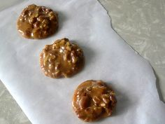 The Hungry Texan: Chewy Pecan Pralines Pecan Recipes, Candy Recipes, Sweet Recipes, Holiday Recipes, Dessert Recipes, Holiday Treats, Yummy Recipes, Recipies, Holiday Cookies