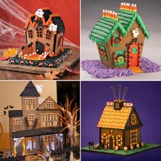 Haunted Gingerbread Halloween Houses.