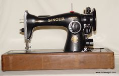 Vintage Singer Model 15 - 91 Sewing Machine - 100th Anniversary Model Bentwood Case - W/Key : Vintage sewing machine parts | Mule Wagon Sewing