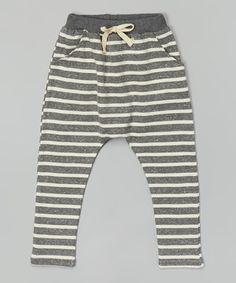 Look at this #zulilyfind! Heather Gray Stripe Harem Pants - Infant, Toddler & Kids by Leighton Alexander #zulilyfinds