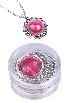 Ball chain: glass dome & flowers