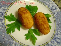 Traditional Italian Potato Croquettes (Crocchette di Patate) | Enjoy this authentic Italian recipe from our kitchen to yours. Buon Appetito!