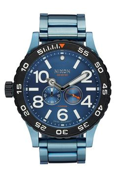 Nixon 'The Moon Raider' Multifunction Bracelet Watch, 51mm