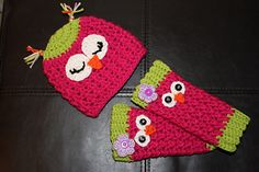 Owl leg warmers and hat set $3.00