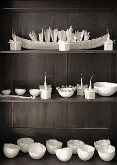 Translucent paper works by German artist, Marlis Maehrle Cardboard Paper, Paper Clay, Uses Of Paper, Paper Bowls, 3d Craft, Easter Art, Craft Markets, Letterpress Printing, Ceramic Art