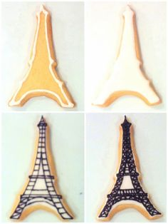 Cherie Kelly's Iced Parisian Poodle Dog and Eiffel Tower Sugar Cookies
