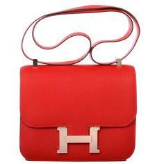 50af0b30c96e1 Hermes Constance Epsom Bag in Rouge Casaque with Palladium Hardware