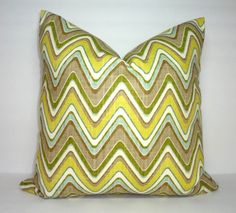 Waverly Sand Art Spa Green & Tan Zig Zag Chevron by HomeLiving