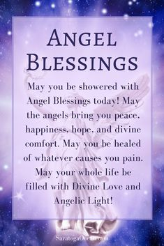 May you be showered with Angel Blessings today and every day <3