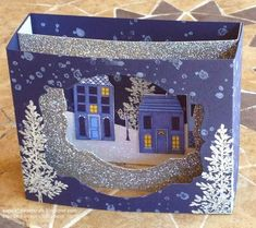 Coming up next week is my last class of 2014 and we are making some one-off, special Christmas cards. I am totally in love with this first...
