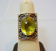 BEAUTIFUL DESIGNER NICKY BUTLER STERLING SILVER QUARTZ STONE RING #NickyButler #Ornate