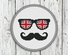 Hey, I found this really awesome Etsy listing at https://www.etsy.com/listing/177704114/union-jack-mustache-counted-cross-stitch