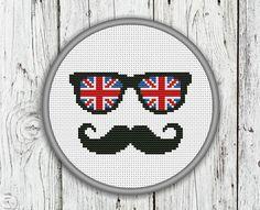 Union Jack Mustache