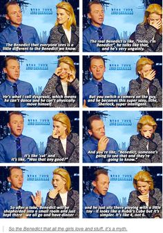 I love Simon Pegg.  And Benedict Cumberbatch.  And Star Trek.  And Sherlock. And every single thing about this interview.