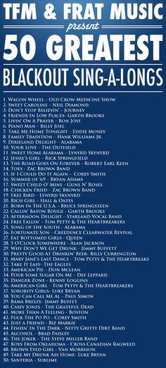 Haha! Song list?!