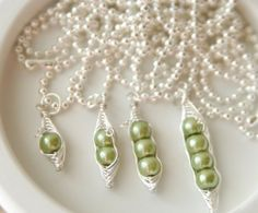 Mothers Day Gift Idea: Mama's Sweet Peas Personalized Necklace