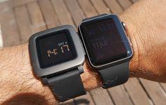 Apple Watch vs Pebble Time Pantalla en exteriores