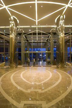 The main lobby of Trump Panama.