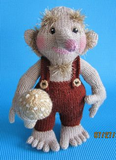 "Hand Knitted Toy Rockin' Troll from Alan Dart pattern  ""READY TO POST"" by DilliDally Dolls onEtsy"