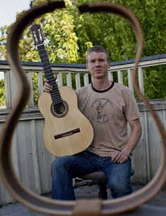 During the summer of 2005, near the banks of the Lamare River in southern France, I built my first guitar under the guidance of luthier Thomas Knatt. For me it was not only the discovery of an amazing craft, but also of a passionate yet immense challenge I have since embraced. ~ Paul Weaver, Portland, OR