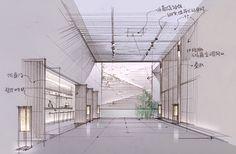 Interior Presentation, Presentation Layout, Interior Design Sketches, Interior Rendering, Scandinavian Interior Design, Interior Design Living Room, Lighting Diagram, Concept Architecture, Classical Architecture