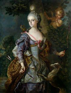 Luise Henriette Wilhelmine von Anhalt-Dessau by Charles-Amédée-Philippe van Loo