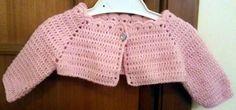Giacchina coprispalle 100 % lana, per bimba da uno a tre mesi.