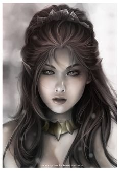 f Elf Mage Wizard portrait Elven girl Fantasy Portraits, Character Portraits, Fantasy Artwork, Fantasy Art Women, Fantasy World, Dark Fantasy, Magical Creatures, Fantasy Creatures, Female Elf