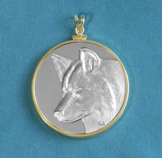 Reversible Good Spirit Wolf Silver Finish by GoodSpiritWolf