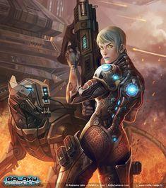 Galaxy Assault - Svea Igrid by Trefle-Rouge.deviantart.com on @deviantART
