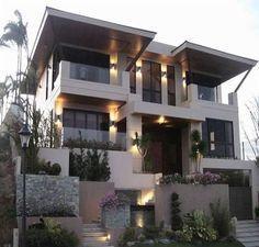 Modern Zen House with Balcony Modern Zen House, Home Modern, Modern Balcony, Big Modern Houses, Modern Condo, Big Houses, Zen House Design, Dream Home Design, Zen Design