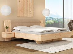 Cool 30 Casual Contemporary Floating Bed Design Ideas For You. Wood Bed Design, Bed Frame Design, Bedroom Bed Design, Diy Bed Frame, Bed Designs In Wood, Bed Back Design, Bed Frames, Kids Bedroom, Master Bedroom
