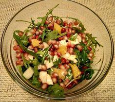 Gránátalmás-körtés rukkola saláta 🍐🍊 Kung Pao Chicken, Pasta Salad, Potato Salad, Healthy Recipes, Healthy Food, Potatoes, Ethnic Recipes, Fitness, Crab Pasta Salad