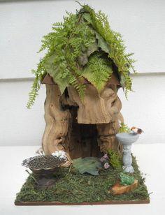 Woodland Hideaway Display for OOAK Fairy by FlowersandFrills, $24.95