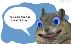 """Change things up for a review and have your students give their answers with an animated squirrel (free website - no log-in required) """"Create an Animated Squirrel"""" (the eyes are kinda creepy, though...)"""
