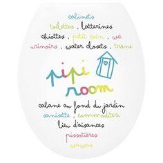 Abattant WC Pipi room, coloris multicolore   Leroy Merlin 30€