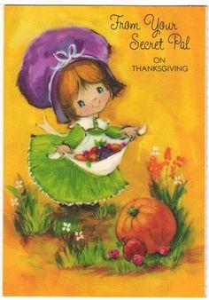 Vintage Greeting Card Thanksgiving