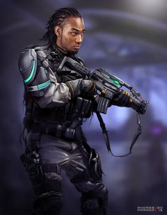Aegeus without helmet or runner/merc Black Anime Characters, Sci Fi Characters, Cyberpunk 2077, Avatar, Character Portraits, Character Art, Character Ideas, Future Soldier, Star Wars