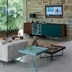 Contemporary sideboard in 195 cm length, custom made furniture from It Living Room Modern, Interior Design Living Room, Living Room Designs, Furniture Layout, Furniture Design, Sideboard Modern, Interior Room Decoration, Custom Made Furniture, Italian Furniture