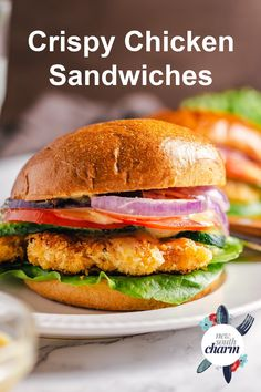 Slow Cooked Chicken, Oven Baked Chicken, Crispy Chicken, Healthy Sandwich Recipes, Healthy Sandwiches, Easy Weeknight Meals, Easy Meals, New Recipes For Dinner, Chicken And Biscuits
