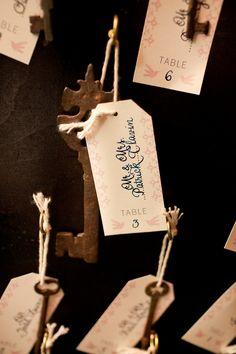 Ideas wedding table names skeleton keys Wedding Table Names, Card Box Wedding, Wedding Favours, Our Wedding, Dream Wedding, Wedding Vintage, Wedding Seating, Forest Wedding, Summer Wedding