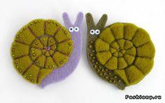 Felt snails