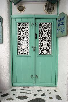 Green Door by newsman05, via Flickr