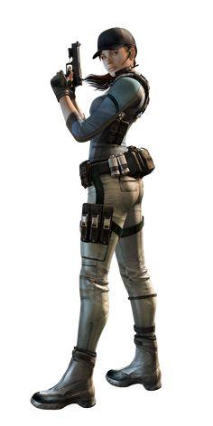 Jill Valentine en japonés (ジル・バレンタイン, Jiru Barentain) es el segundo personaje jugable de toda la Franquicia Resident Evil, antecedida por su ex-compañero Chris Redfield, con quien mantiene un fuerte lazo. Jill ha aparecido en muchas entregas como juegos, mangas, cómics, libros, películas entre otras cosas, lo que la convierte en uno de los personajes clave de la historia. Se preocupa mucho por sus compañeros y siempre trata de ayudarlos en caso de que la necesiten, además, es una experta...