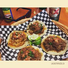 Inexpensive Lunch In West End Vancouver BC #LaCasita #Tacos #DosEquis  #Pollo #