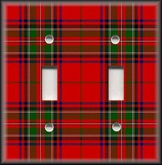 Light Switch Plate Cover - Tartan Plaid - Red And Green - Country Home Decor #LunaGallerySwitchPlates