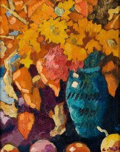 ❀ Blooming Brushwork ❀ - garden and still life flower paintings - Louis Valtat | Fleurs Dans Un Vase Bleu, 1910