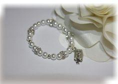 Baby Infant Newborn Bracelet  / Christening by SimplyWired4u, $12.00
