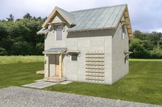 Cottage Style House Plan - 1 Beds 1 Baths 972 Sq/Ft Plan #497-62 Front Elevation - Houseplans.com