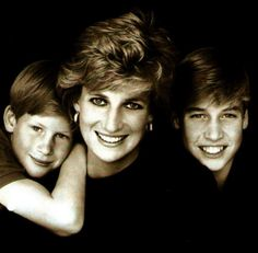 Harry, Lady Diana and William
